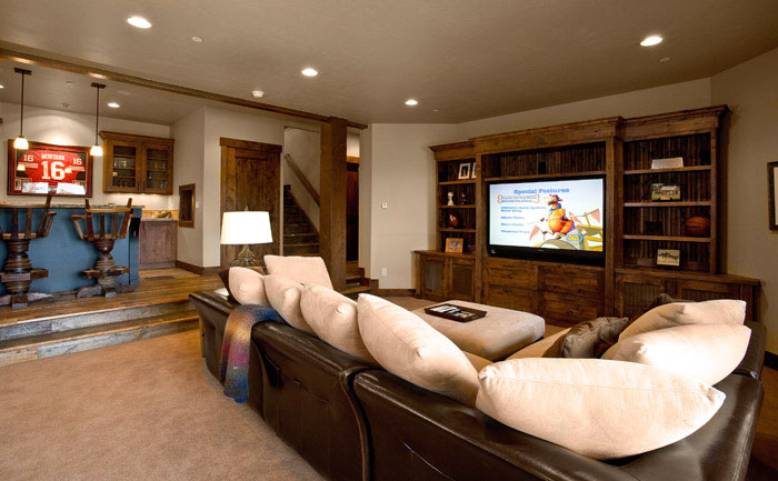 theater rooms in basement rooms